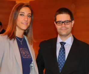 Entrega del  III Premio Jóvenes Laboralistas FORELAB, galardón que ha recaído en Almudena Jiménez Batista, abogada de Cuatrecasas Gonçalves Pereira y Adrián Todolí Signes, doctorado en la Universidad de Valencia